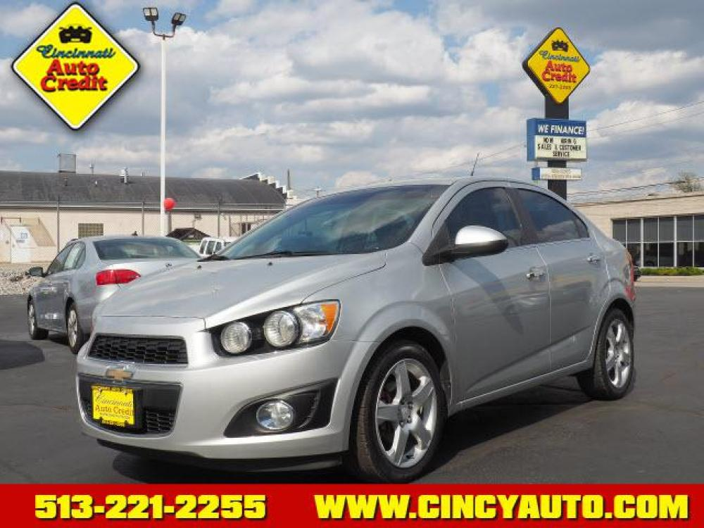2013 Silver Ice Metallic Chevrolet Sonic LTZ Auto (1G1JE5SB0D4) with an 1.4 4 Cylinder Sequential Multiport Fuel Injection engine, Automatic transmission, located at 2813 Gilbert Avenue, Cincinnati, OH, 45206, (513) 221-2255, 39.130219, -84.489189 - Photo #0